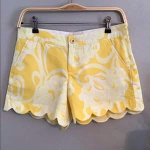 Lilly Pulitzer Yellow Buttercup Shorts